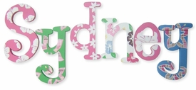 """8"""" hand painted wooden letters whimsical luau"""