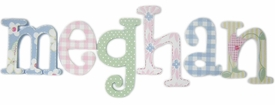 """8"""" hand painted wooden letters whimsical meghan's daisies"""