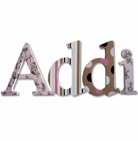 """Addi's toile 8"""" wooden hanging letters"""