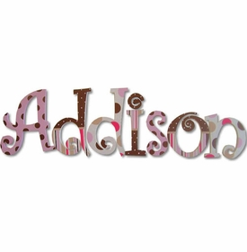 """addison's patterns 8"""" wooden hanging letters"""