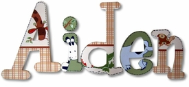 """aidan's jungle 8"""" wooden hanging letters"""