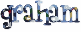 """airplanes whimsical style 8"""" wooden hanging  letters"""