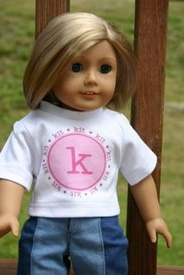 american girl doll personalized tee