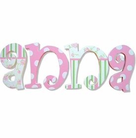 "annas garden 8"" hanging hand painted letters"