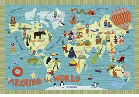 around the world wall art