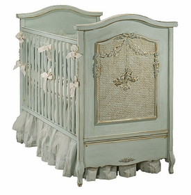 art for kids bonne nuit cherubini crib (versailles blue)