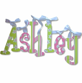 """ashley 8"""" hand painted wooden letters"""