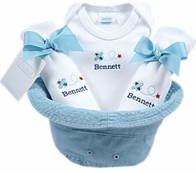 baby boy gift basket bucket