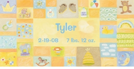 baby boy - personalized wall art by donna  ingemanson