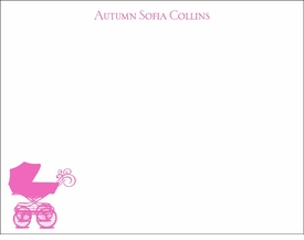 baby buggy pink children's stationary