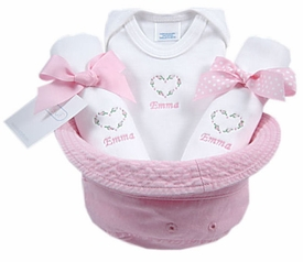 baby girl gift basket bucket