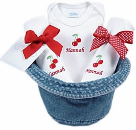 baby girl gift set - bucket hat