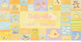 baby girl - personalized-  wall art by donna  ingemanson