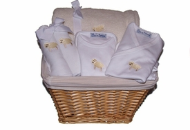 baby lamb gift basket (yellow)
