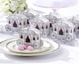 """baby shower favor """"enchanted carriage"""" favor boxes set"""