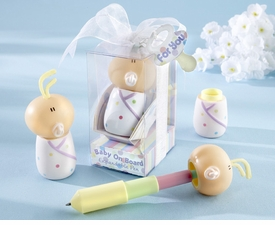 """baby shower favor - expandable """"baby on board"""" pen"""