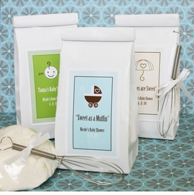 baby shower favor - personalized muffin mix