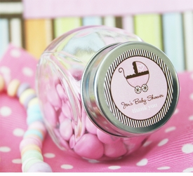 baby shower favors - personalized candy jars