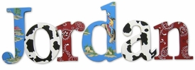 """back at the ranch nantucket 8"""" wooden wall letters"""