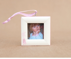 ballet slipper christmas frame ornament