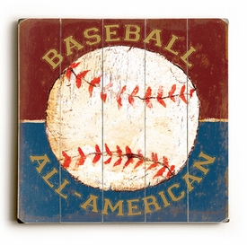 baseball all american vintage sign