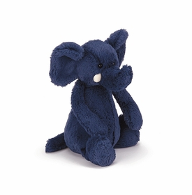 bashful blue elephant by jelly cat