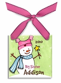 big sister christmas ornament