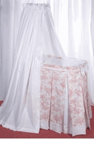 blauen toile bassinet with canopy