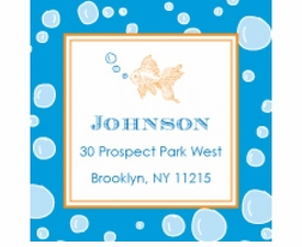 blowing bubbles personalized sticker