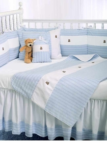 blue bears crib bedding