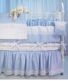 blue celeste and aralie crib bedding
