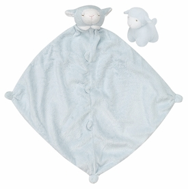 blue lamb blankie and squeaker set