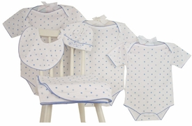 blue star layette set