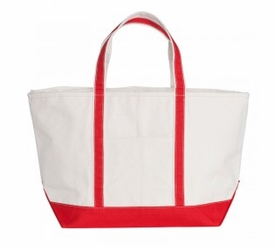 boat tote - red