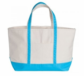 boat tote - turquoise