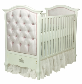 bordeaux paneled crib - majestic lilac mist