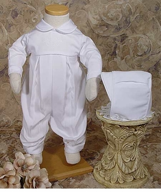 boys gabardine christening coverall