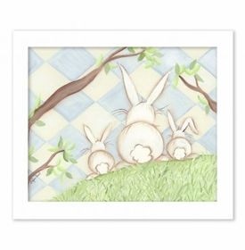bunny blue diamond canvas reproduction wall art
