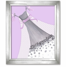butterfly lavender couture wall art