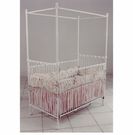 canopy crib with sitting bunny finials 41164