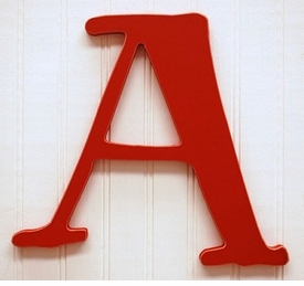 """capital wooden letter - """"a"""""""