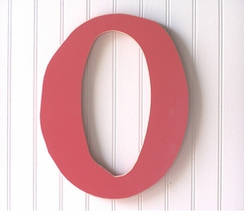 """capital wooden letter - """"o"""""""