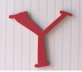 """capital wooden letter - """"y"""""""