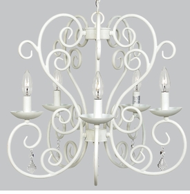 carriage chandelier white