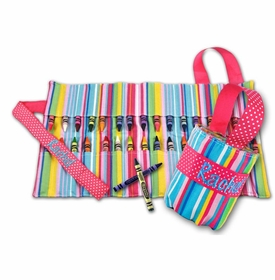 carry me crayon keeper - pink stripe