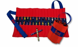 carry me  crayon keeper - red and blue