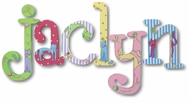 """cats whimsical 8"""" wooden wall letters"""