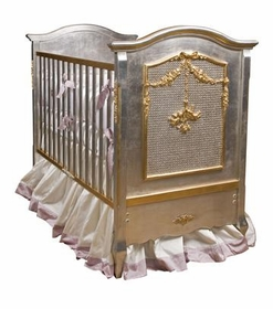 cherubini crib silver with gold gilding