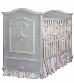 cherubini crib (washed blue & creme)