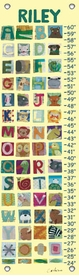 children's growth chart - animal alphabet